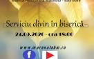 Serviciu divin în Biserică – 24.09.2020