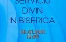 Serrviciu divin în biserică – 28.01.2021