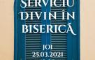 Serviciu divin în biserică – 25.03.2021