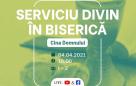 Serviciu divin în biserică – 04.04.2021