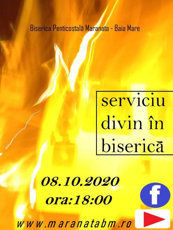 Serviciu divin în Biserică - 08.10.2020
