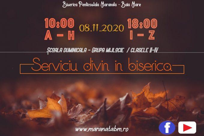Serviciu divin în biserică 08.11.2020
