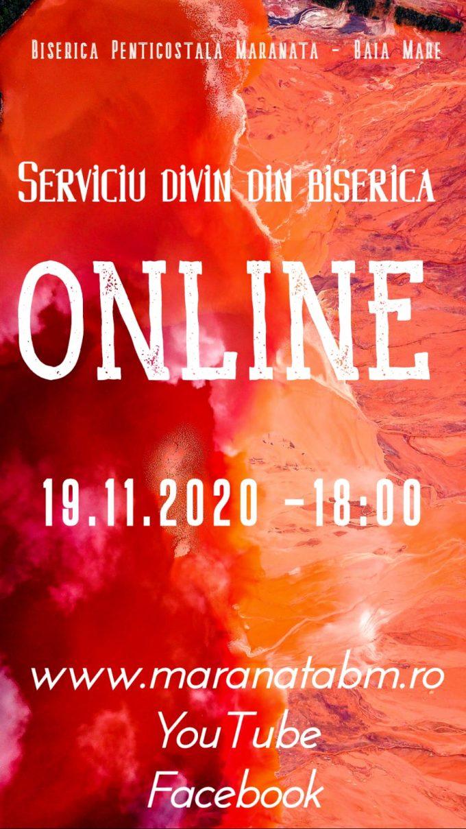 Serviciu divin în biserică (online) - 19.11.2020