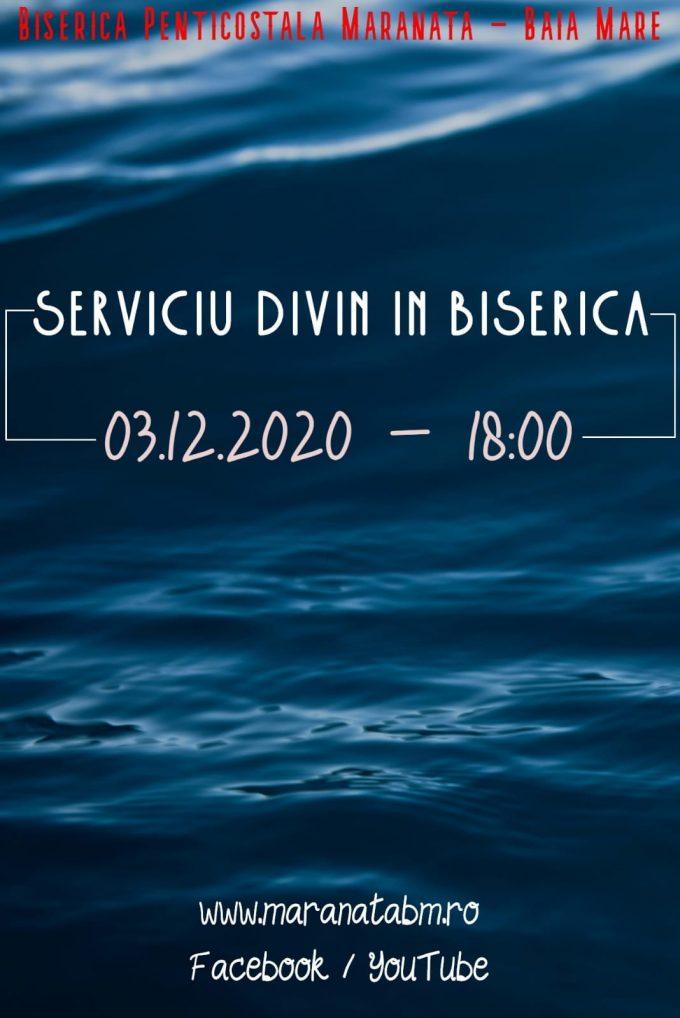 Serviciu divin în biserică - 03.12.2020
