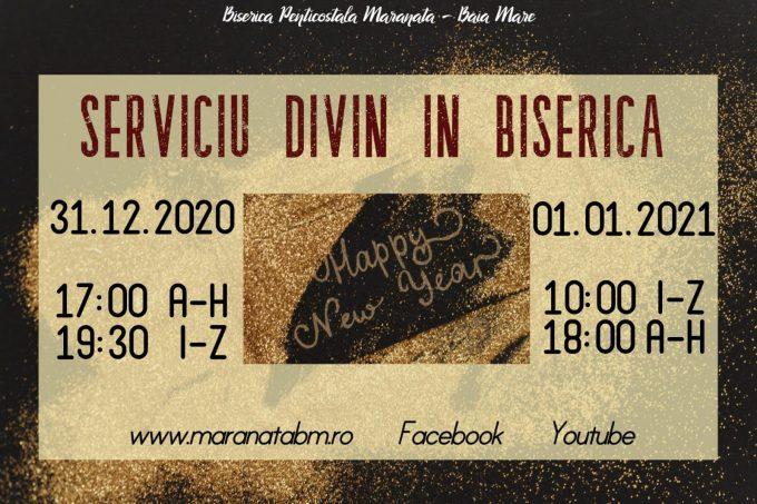 Serviciu divin în Biserică – 31.12.2020