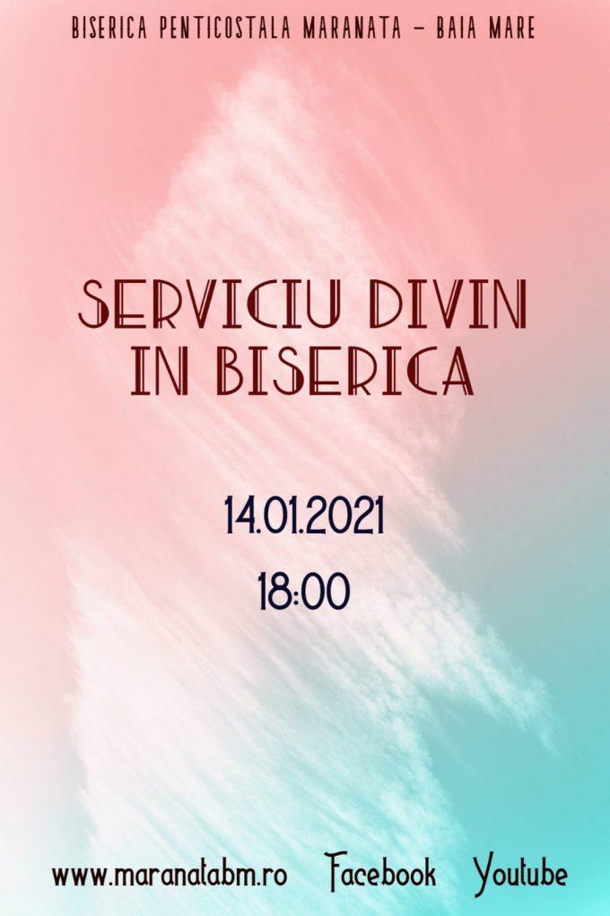 Serviciu divin în biserică - 14.01.2021