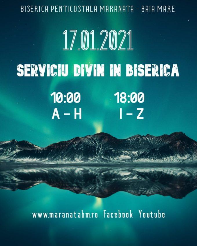 Serviciu divin în biserică - 17.01.2021