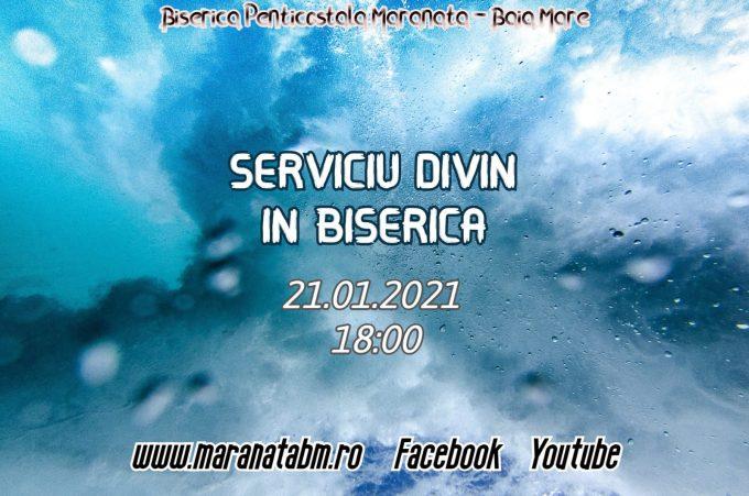 Serviciu divin în biserică - 21.01.2021