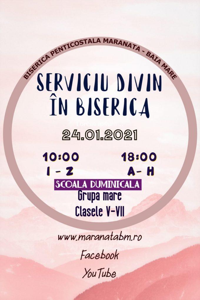 Serviciu divin în biserică 24.01.2021