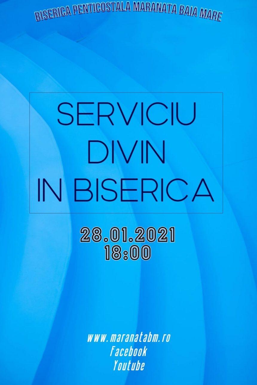 Serrviciu divin în biserică - 28.01.2021