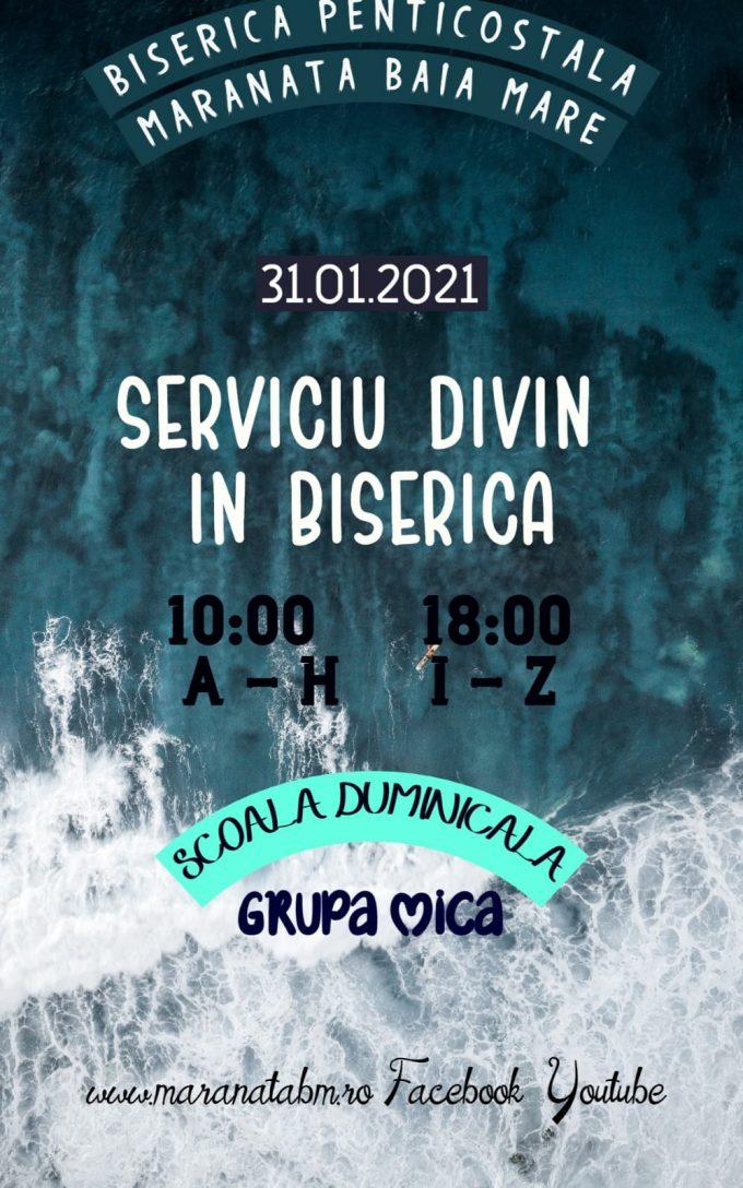 Serrviciu divin în biserică - 31.01.2021
