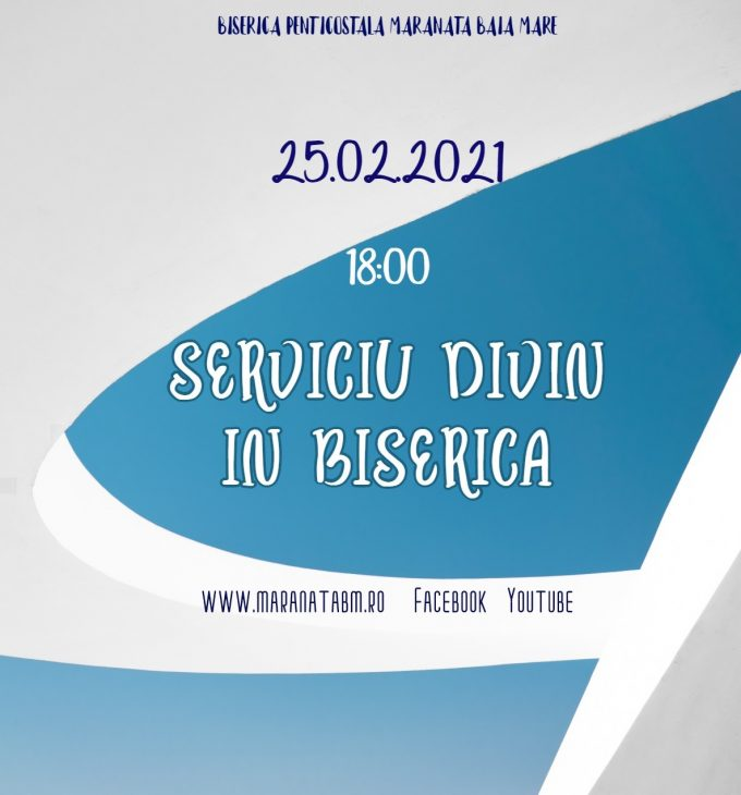 Serviciu divin în biserică - 25.02.2021