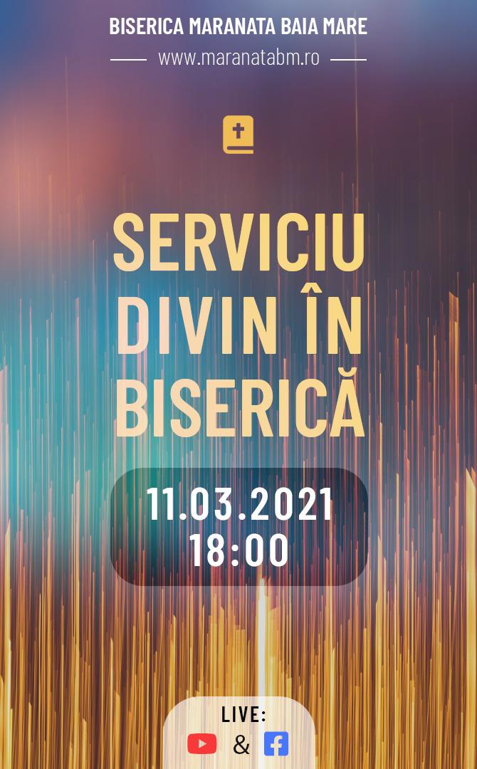 Serviciu divin în biserică - 11.03.2021