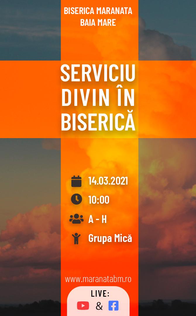 Serviciu divin în biserică - 14.03.2021