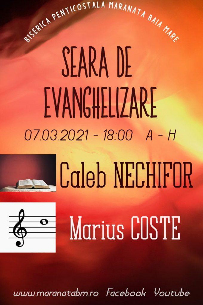 Seară de evanghelizare - 08.03.2021