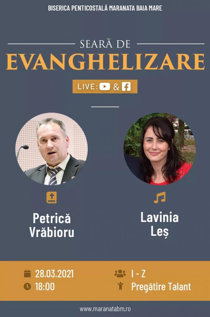Seară de evanghelizare - 28.03.2021
