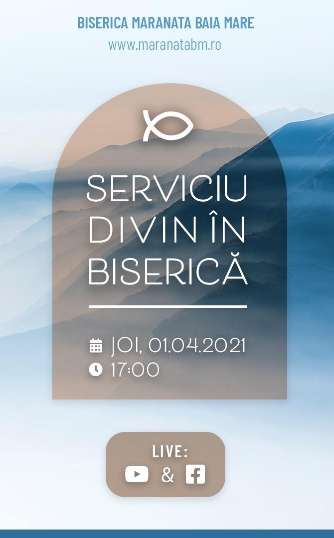 Serviciu divin în biserică - 01.04.2021