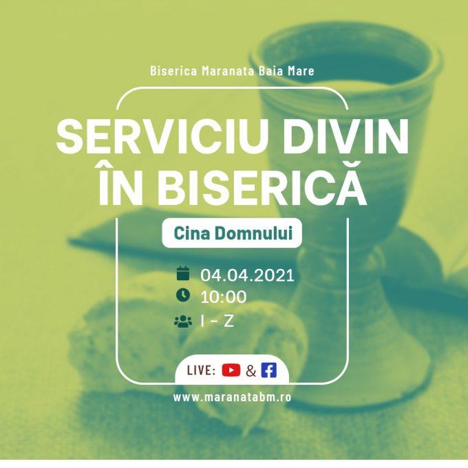 Serviciu divin în biserică - 04.04.2021